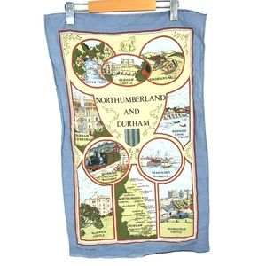 ❤️north humberland and durham Cotton towel 1982